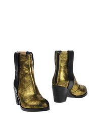Золотистые Полусапоги и высокие ботинки MM6 BY Maison Margiela