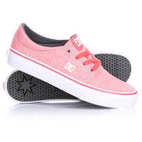 Кеды кроссовки низкие женские DC Trase Tx Se J Shoe Pink/Raspberry
