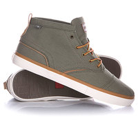 Кеды кроссовки высокие Quiksilver Heyden Canvas Shoe Green/Yellow/White