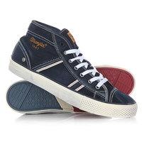 Кеды кроссовки высокие Wrangler Starry Mid Denim Blue Denim