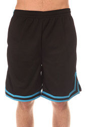 Шорты классические Urban Classics Stripes Mesh Shorts Black/Turquoise