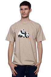 Футболка Enjoi Piggyback Pandas Camel