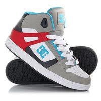 Кеды кроссовки высокие детские DC Rebound B Grey/Red
