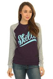 Толстовка свитшот женская Skills Script Logo 3 Crewneck Violet/Grey Melange