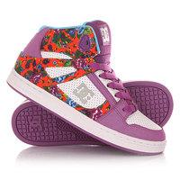 Кеды кроссовки высокие детские DC Rebound Se Purple Rain