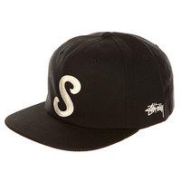 Бейсболка с прямым козырьком Stussy Classic S Strapback Cap Black