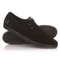Кеды кроссовки низкие Fred Perry Byron Low Suede Black