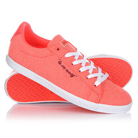 Кеды кроссовки низкие женские Le Coq Sportif Agate Lo Summer Jersey Fiery Coral/Ruby