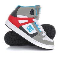 Кеды кроссовки высокие детские DC Rebound Grey/Red
