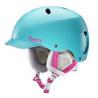 Шлем для сноуборда детский Bern Snow Eps Diabla Satin Cyan Blue/White Liner