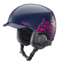 Шлем для сноуборда женский Bern Snow Eps Muse Satin Navy Geo Graphic/Black Liner