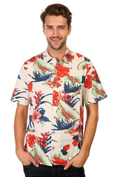 Рубашка Lightning Bolt Paradise Flowers Aloha Shirt White