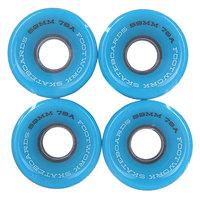 Колеса для скейтборда для лонгборда Footwork Road Runners Black/Blue 78A 59 mm