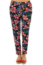 Штаны прямые женские Roxy Palm Trees Pant True Black Maui Ligh