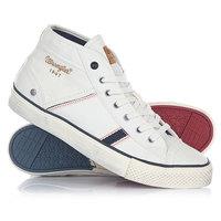 Кеды кроссовки высокие Wrangler Starry Mid Canvas White