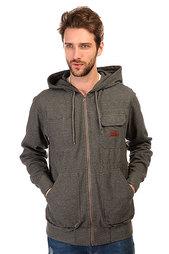 Толстовка классическая Billabong Marked Zip Hood Dark Grey Heath