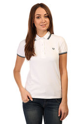 Поло женское Fred Perry Twin Tipped Shirt White