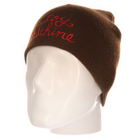 Шапка Toy Machine Script Embosed Beanie Brown