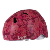 Шлем для сноуборда детский Bern Nina Satin Pink Camo White Fleece