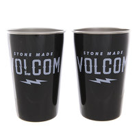 Стакан Mizu Volcom Party Cup Set Glossy Black White Print