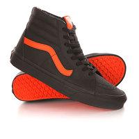 Кеды кроссовки высокие Vans Sk8-Hi Xtuff Black/Flame