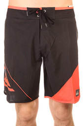Шорты пляжные Quiksilver New Wave Black/Orange
