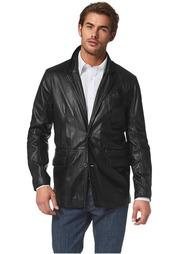 Кожаный пиджак Class International
