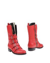 Красные Полусапоги и высокие ботинки Giuseppe Zanotti Design