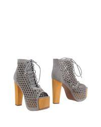 Серые Полусапоги и высокие ботинки Jeffrey Campbell