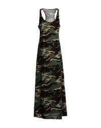Камуфляжное платье с длинным