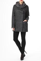 Пальто с шарфом Maison Scotch