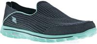 13962-CCAQ 9,5 Кроссовки женские GO WALK 2-CONVERTIBLE Women's half boots серый/бирюзовый р.9,5 Skechers