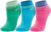 Носки женские Nike Lightweight Cotton Quarter, 3 пары