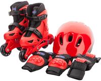 Набор для мальчиков Re:action: роликовые коньки, шлем, защитная экипировка