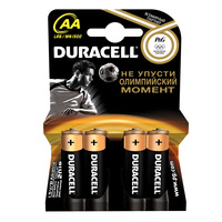 Батарейки щелочные Duracell Basic AA/LR06, 4 шт.