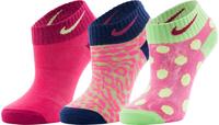 Носки для девочек Nike Graphic Lightweight Cotton Low-Cut, 3 пары