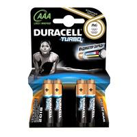 Батарейки щелочные Duracell Turbo AAA/LR03, 4шт.