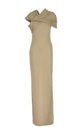Вечернее платье в пол с декоративной цепью Givenchy