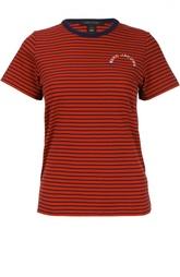 Хлопковая футболка в контрастную полоску Marc Jacobs