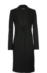 Шерстяное приталенное пальто Dolce & Gabbana