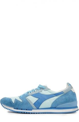 Кожаные кроссовки со вставками из текстиля Diadora Heritage