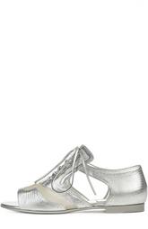 """Кожаные сандалии с тиснением """"ящерица"""" на шнуровке Givenchy"""