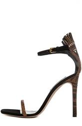 Босоножки Glam tribe со стразами в африканском стиле Valentino