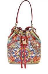 Сумка Dolce secchiello с принтом и плечевым ремнем Dolce & Gabbana