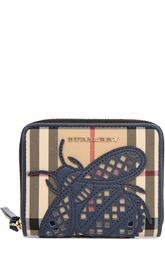Портмоне Elmore в клетку с аппликацией в виде пчелы Burberry