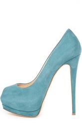 Замшевые туфли с открытым мысом Giuseppe Zanotti Design