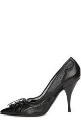 Кожаные туфли со шнуровкой и вставками из сетки Givenchy