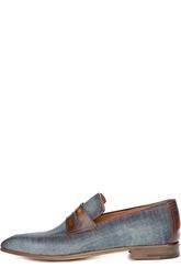 Джинсовые лоферы с кожаными вставками Berluti Shoes