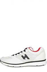 Кроссовки со вставками из перфорированной кожи Hogan