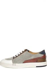 Кроссовки color block с джинсовыми вставками Berluti Shoes